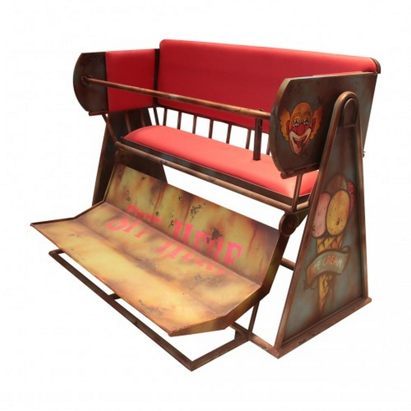 carousel bench metal nlcdeco
