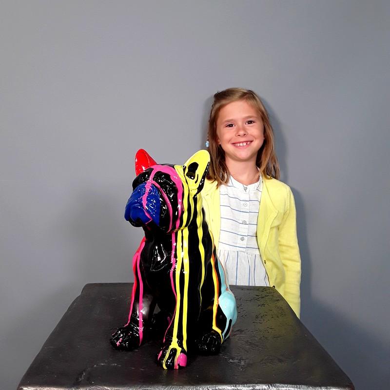 Idée cadeau statue petit chien nlcdeco
