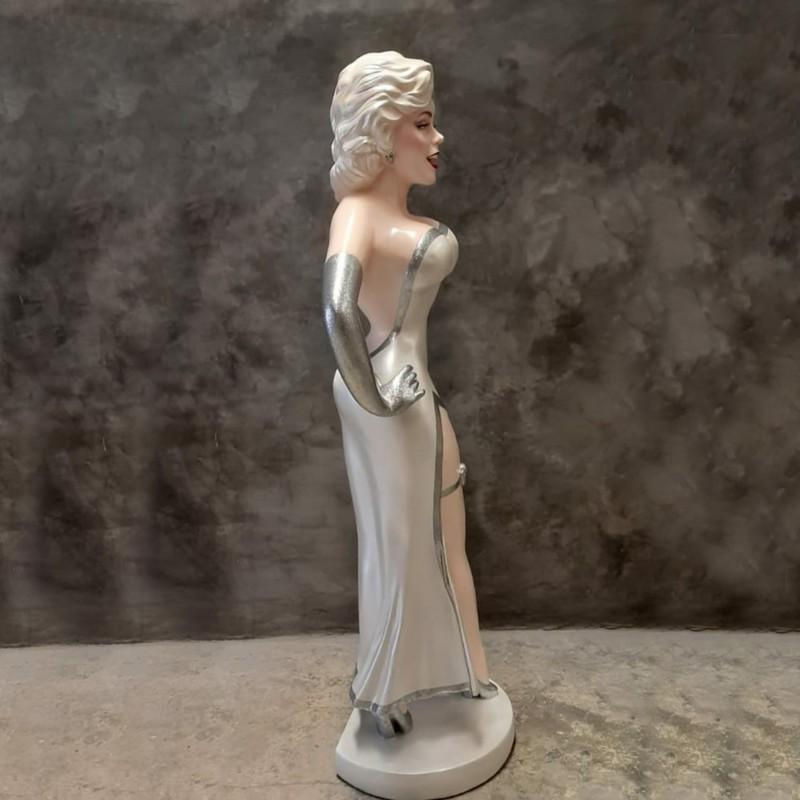 Statue chanteuse des années 70 nlcdeco