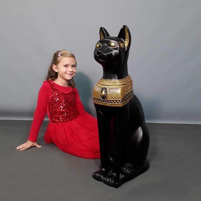 Statue chat sacré Bastet noir nlcdeco