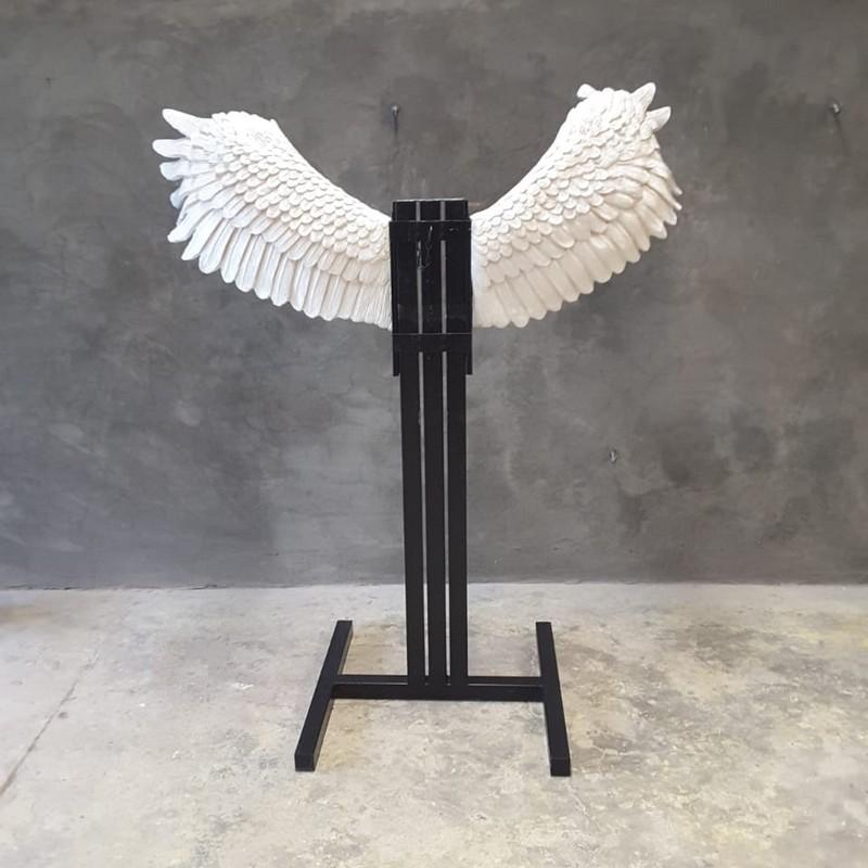Support métallique ailes d'ange nlcdeco