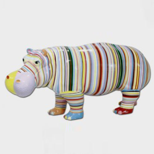 Hippopotame-multi-couleurs-rayures nlcdeco.fr