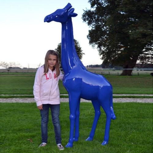 Girafe couleur www.nlcdeco.fr décoration animaux en résine