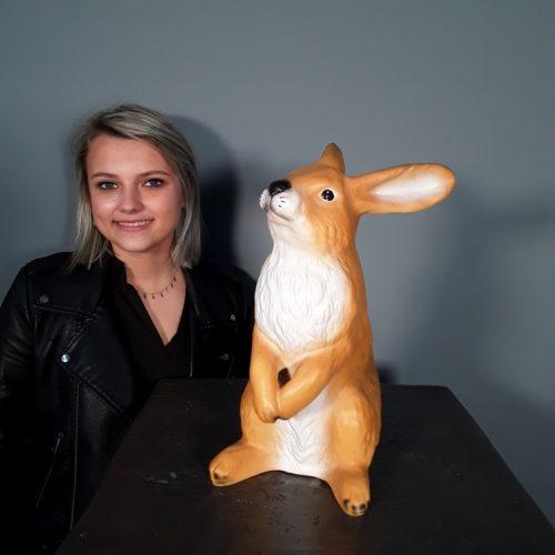 Animal résine lapin nlcdeco