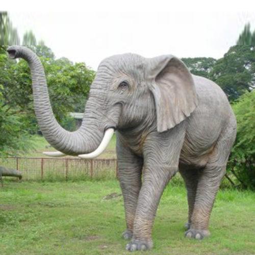 Eléphant-trompe-en-lair animaux en résine nlcdeco déco