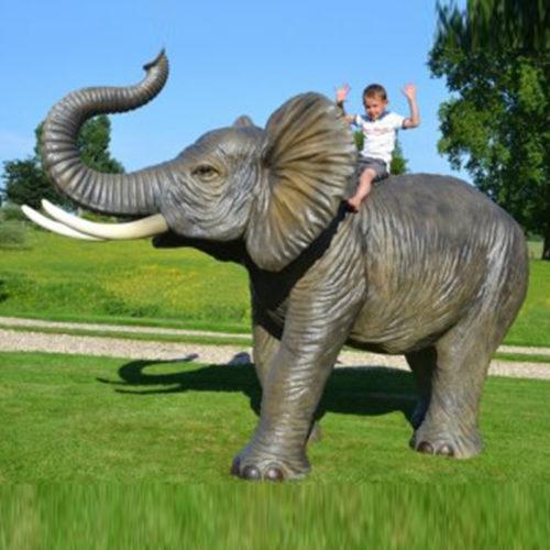 Elephant-grandeur-nature animaux resine nlcdéco deco