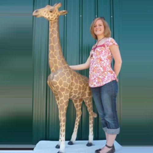 Girafe-résine animaux en résine nlc déco deco