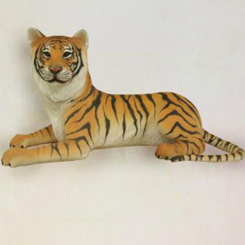 Tigre-couché animaux en résine nlcdéco deco