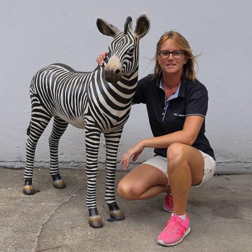 Zèbre 110099 nlcdeco animaux en resine bébé savane brousse safari mignon
