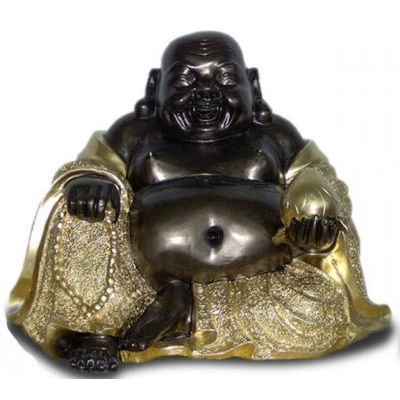 Bouddha assis noir or