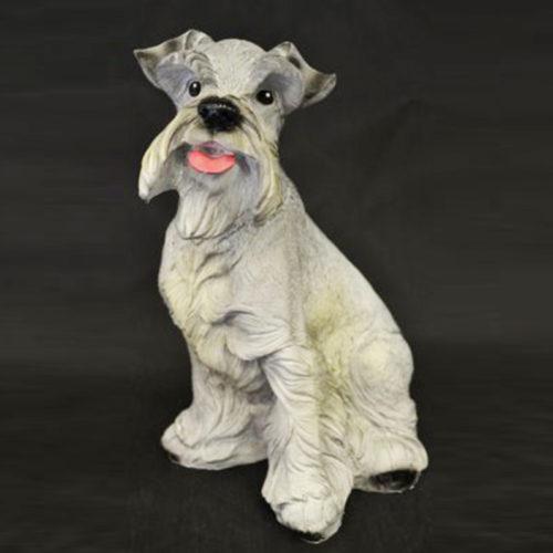 Chien-gris chien resine animaux nlc déco deco