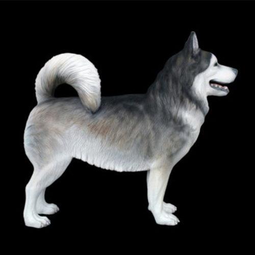 Husky chien chiot resine déco deco nlc deco animaux resine