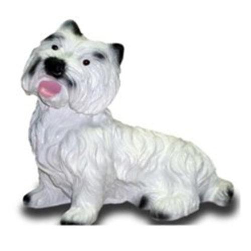 Westie-couché nlc deco chien resine animaux déco