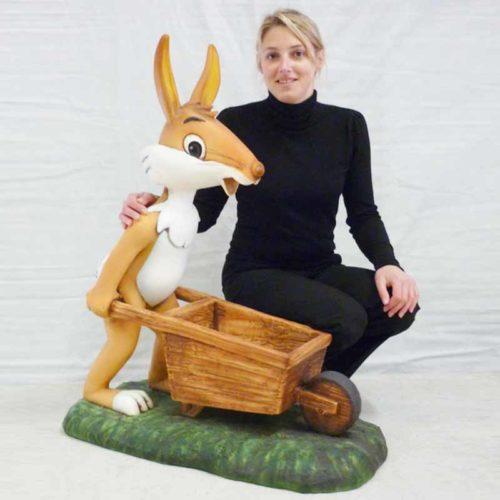 Lapin-brouette nlcdéco déco NLCDECO paques lapin fete religieuse
