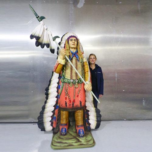 Chef indien decoration en resine nlcdeco cowboy personnage