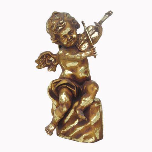 Statuette ange musicien nlcdeco