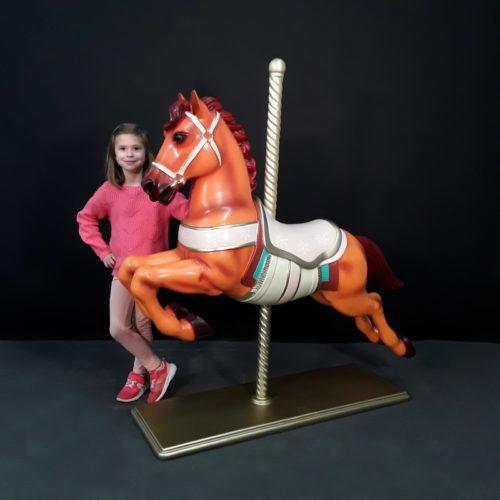 Cheval de carrousel manège en bois nlcdeco