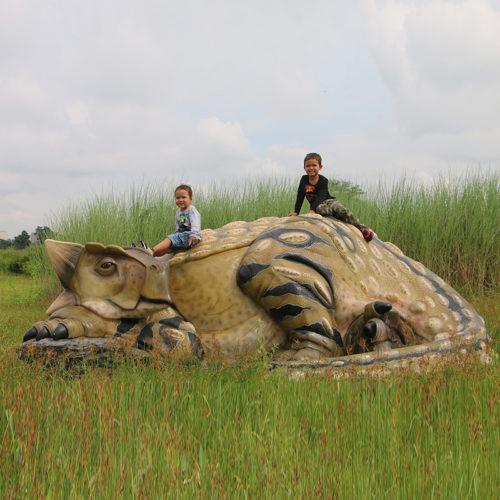Ankylosaurus couché DINOSAURE NLC DECO