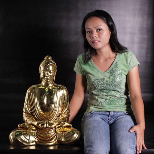 Bouddha assis doré NLC DECO