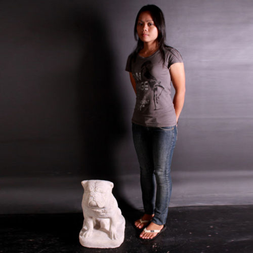 Chien Bulldog sculpture NLC DECO