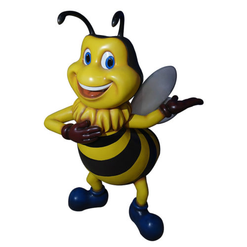 2505-2002 Welcome Bee (80x110x160) abeille géante animaux en résine nlcdeco (1)