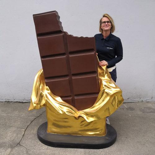 barre de chocolat nlcdeco décoration en résine 1130 gourmandise