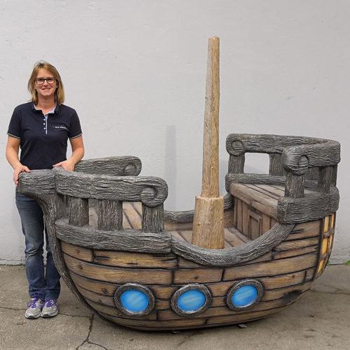 bateau décor en resine nlcdeco.fr navire mer pirate