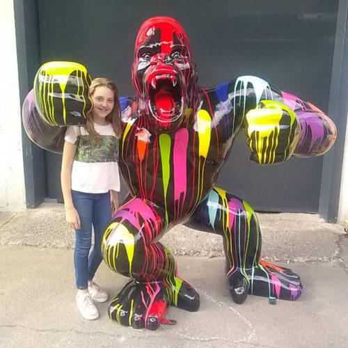 gorille trash design noir nlcdeco grande taille