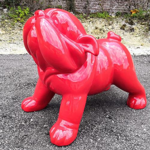 bobbys rouge grand modèle en résine nlcdeco animaux et personnage en résine