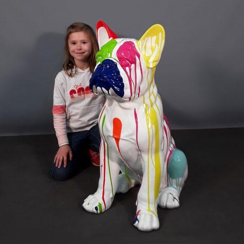 Statue bouledogue assis design nlcdeco