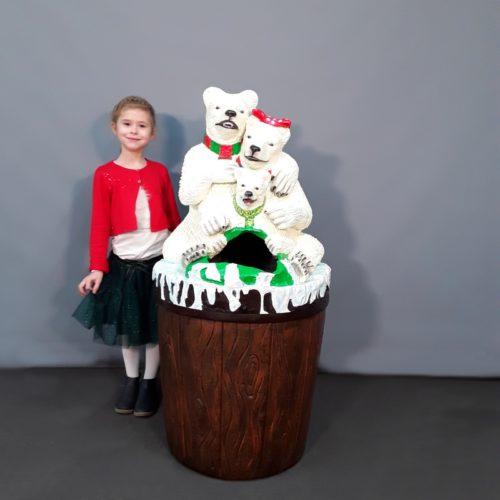 Poubelle ours en résine décoration zoo nlcdeco