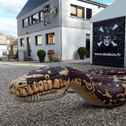 faux anaconda en résine parcs d'attractions nlcdeco