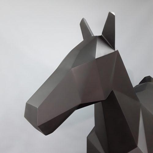 tête de cheval façon origami nlcdeco