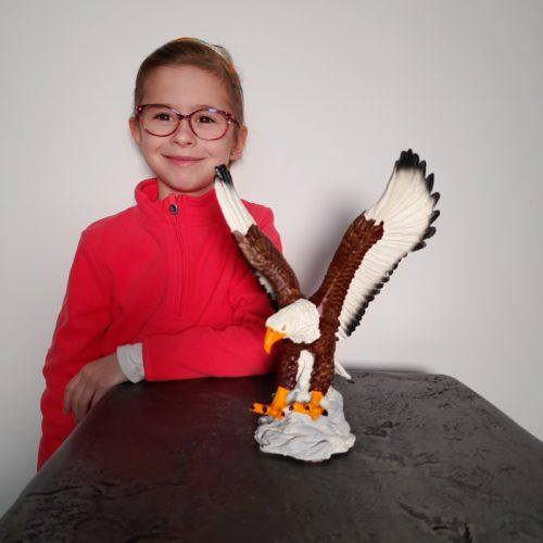 Statuette aigle en résine nlcdeco