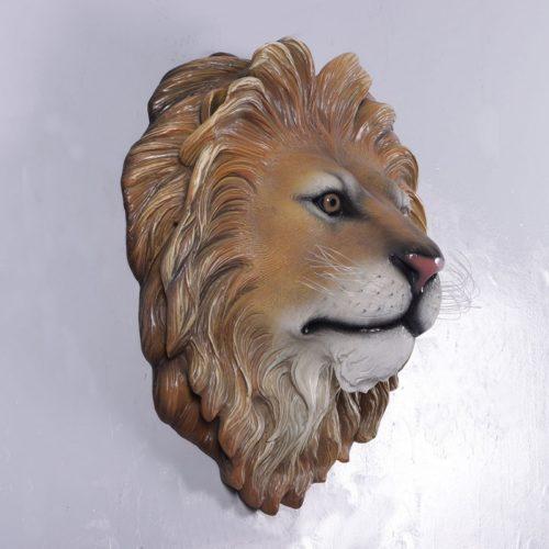 Trophée de lion décor mural en résine nlcdeco