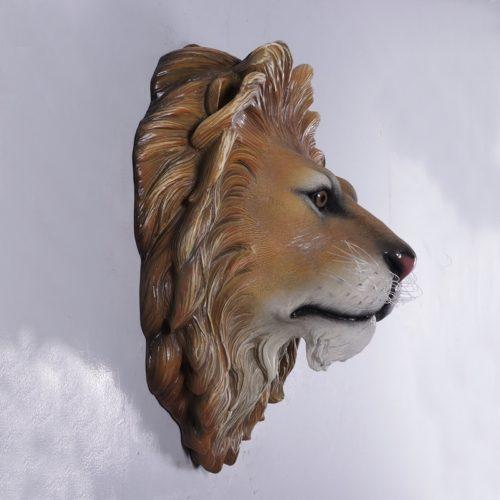 Trophée de lion décor mural restaurant à thème nlcdeco
