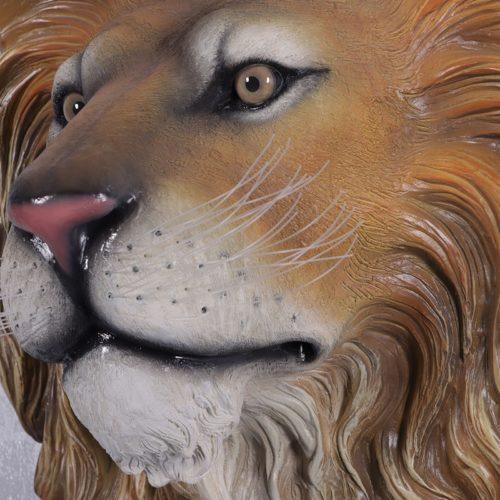 Trophée tête de lion décor de chasse nlcdeco
