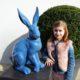 Grand lapin bleu nlcdeco