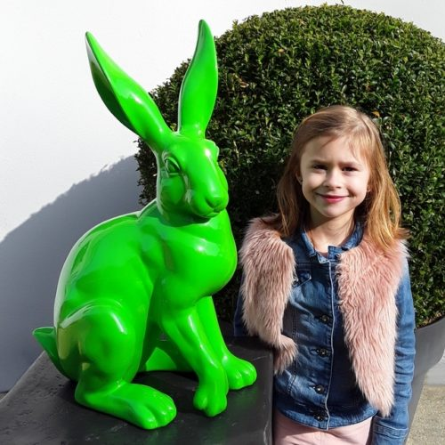 Grand lapin vert clair nlcdeco