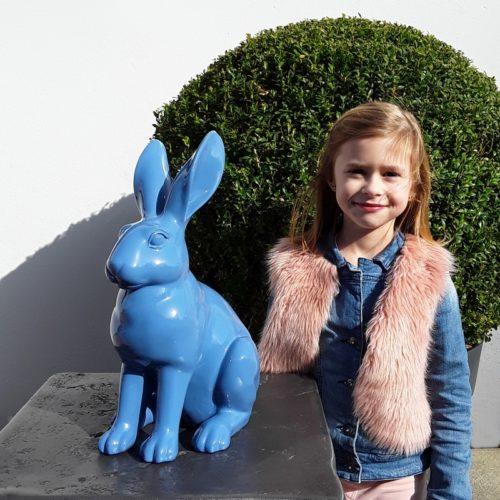 Statue lapin assis décor de pâques nlcdeco