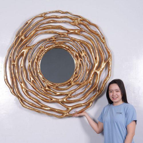 miroir doré décoration moderne nlcdeco