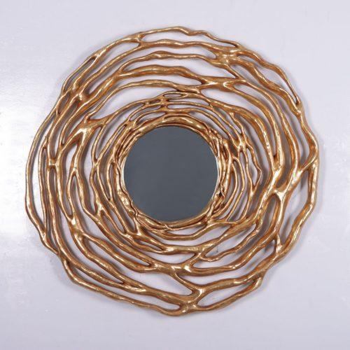 miroir doré décoration restaurant nlcdeco