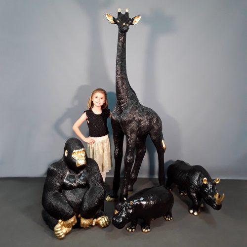 Animaux design noir-or nlcdeco