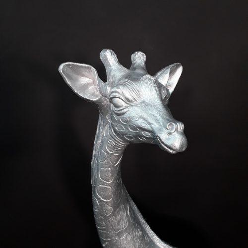 Girafe argentée nlcdeco