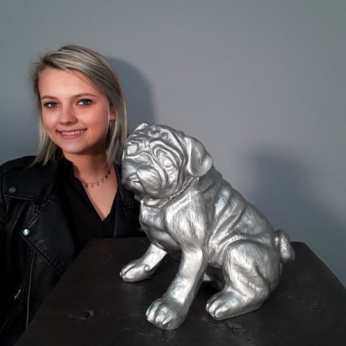 Resin silver dog nlcdeco