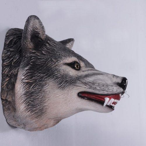 décor mural tête de loup nlcdeco