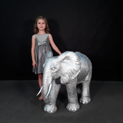 éléphant design argenté nlcdeco